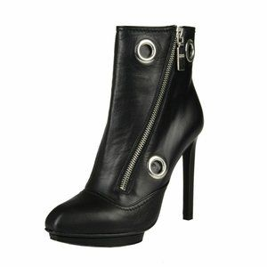 Alexander Mcqueen Womens Leather Ankle Boots Shoes